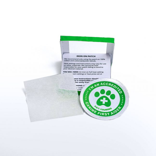 Accredited Canine First Aider Official Iron On Patch